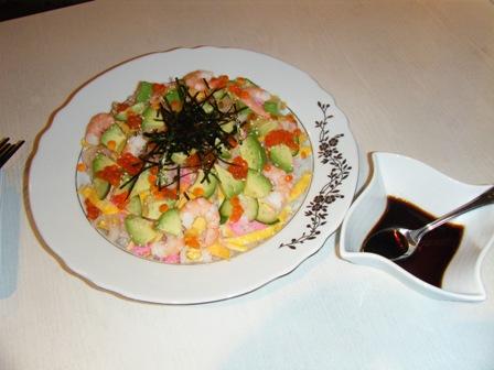 アボカドちらし寿司